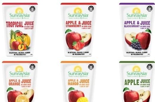 Sunraysia Pouch Juice Flavours