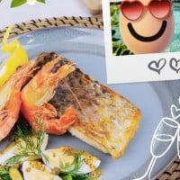 Crispy Skin Barramundi With King Prawns And Sauce Gribiche