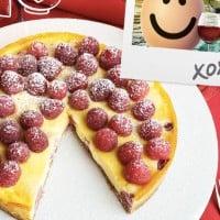 Venice-Inspired Baked Mascarpone And Raspberry Tart