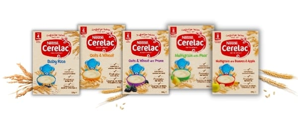 range of cereals in the cerelac infant cereals review