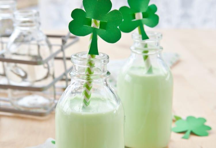 Green St Patrick's Day Milkshake