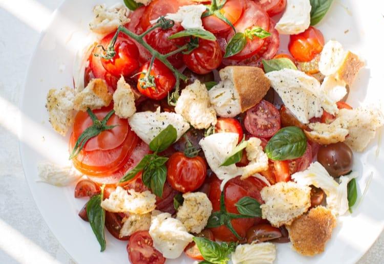 Italian Salad with Homemade Croutons