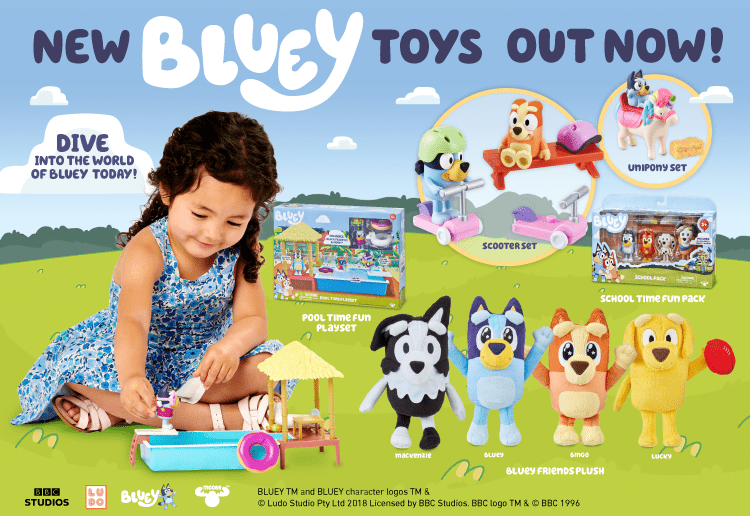 Wackadoo! WIN 1 of 5 BIG Bluey Toy Packs