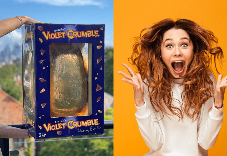 Oh Yum! Now You Can Feast On A Giant 6Kg Violet Crumble Easter Egg