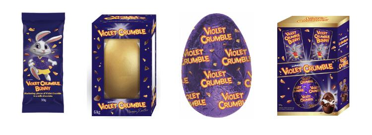 violet crumble eggs