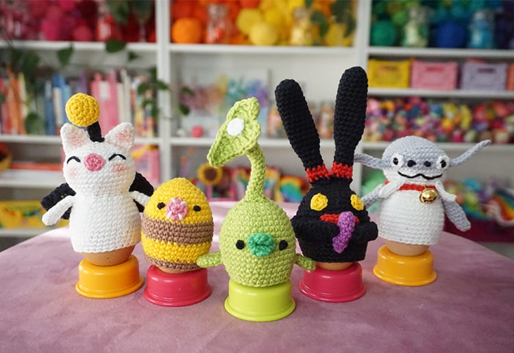WIN Final Fantasy XIV Online Crochet Easter Egg Cosies by Little Cosy Things