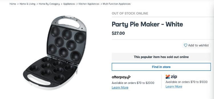 party pie maker