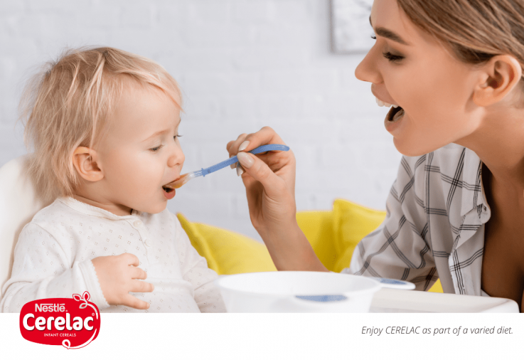 Baby eating - ready for solids Cerelac Sponsored Post Main Image