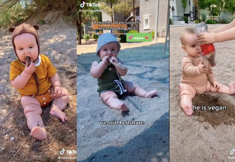 "Vegan Mum Lets Her Baby Eat Dirt And Chew On Rocks As She ""Welcomes Bacteria"""