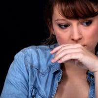 sad Worried woman