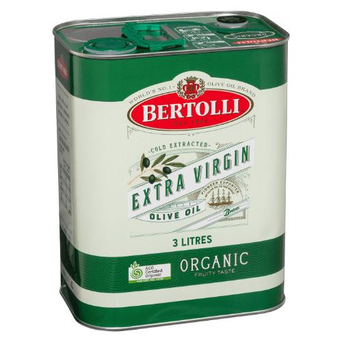 Bertolli Organic Extra Virgin Olive Oil Fruity Taste 3L