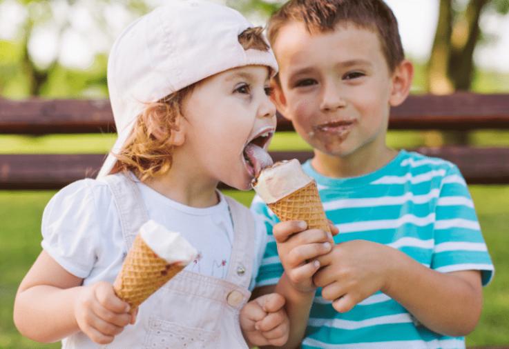 kids sharing ice cream - teaching your toddler to share