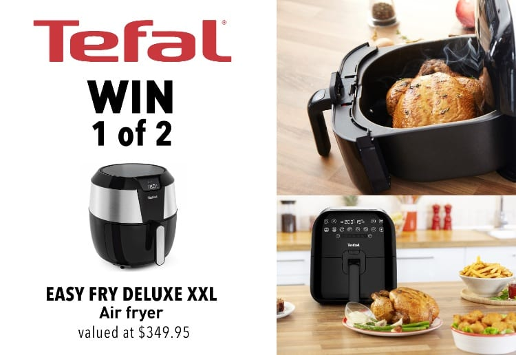 WIN 1 of 2 Easy Fry Deluxe XXL Air Fryers From Tefal