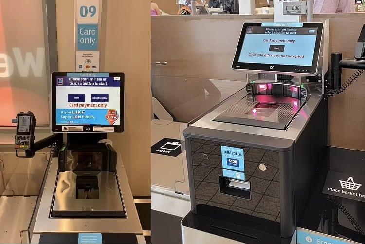 New Aldi Self-Service Checkouts / Pic Via Facebook