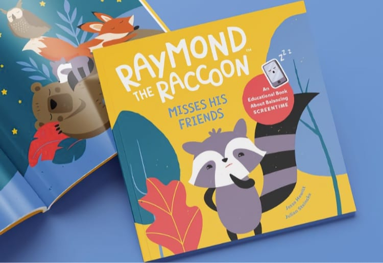 Win a Copy of Raymond The Raccoon, an Educational Book About Balancing Screentime