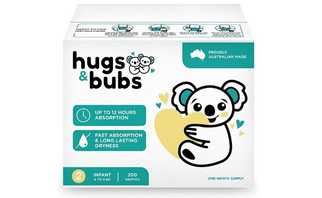 Hugs & Bubs Review - Hugs & Bubs Nappies from Amazon Australia - Australian Made Nappies