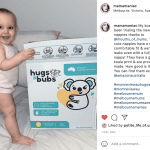 baby with hugs and bubs nappies - hugs and bubs nappies review
