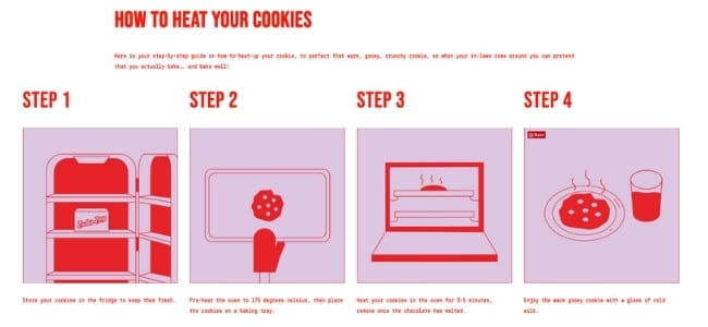Instructions from Butter Boy_How to Heat Your Cookies