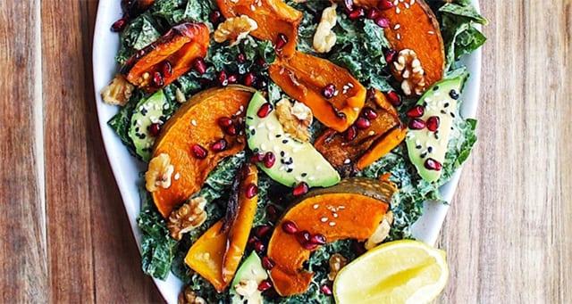 Roast-Pumpkin-and-Kale-Salad