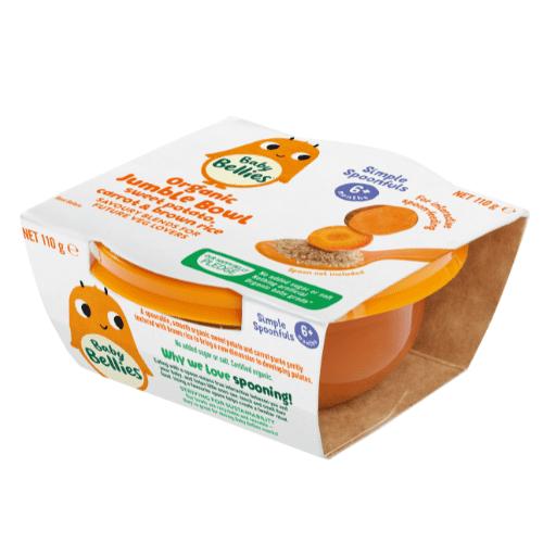 Baby Bellies Sweet Potato Carrot And Brown Rice Organic Jumble Bowl
