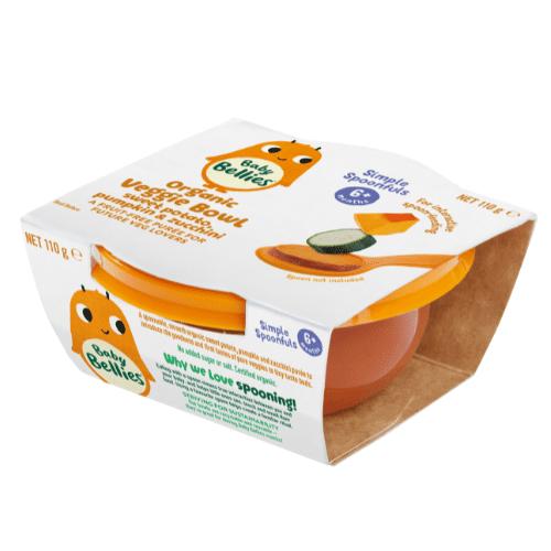 Baby Bellies Sweet Potato, Pumpkin & Zucchini Organic Veggie Bowl