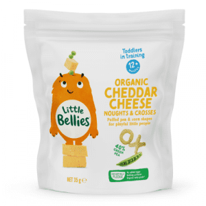 Little Bellies Organic Cheddar Cheese Noughts And Crosses