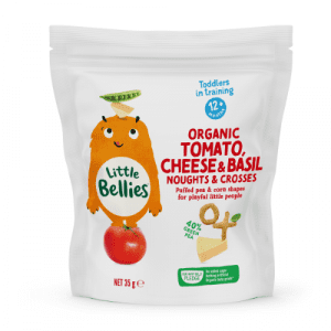 Little Bellies Organic Tomato Cheese And Basil Noughts And Crosses