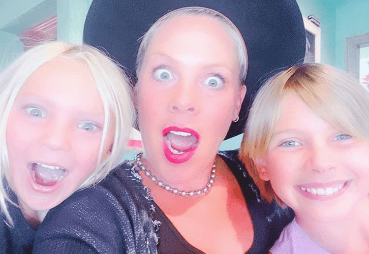 Gold Medal Mum: Pink hosts her own Family Olympics