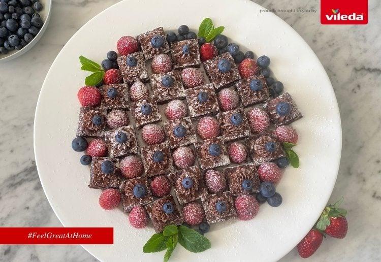 Vileda Feel Good Finger Plates – Brownie Checkerboard