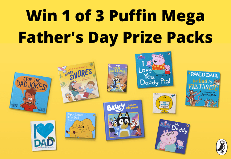Win 1 of 3 Puffin Father's Day Mega Book Prize Packs