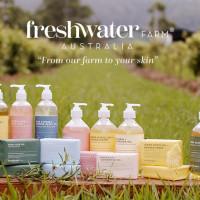 Freshwater Farm Handwash & Body Bars Review_Main Image shows handwashes and body bars
