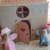 Recycled fairy doll house