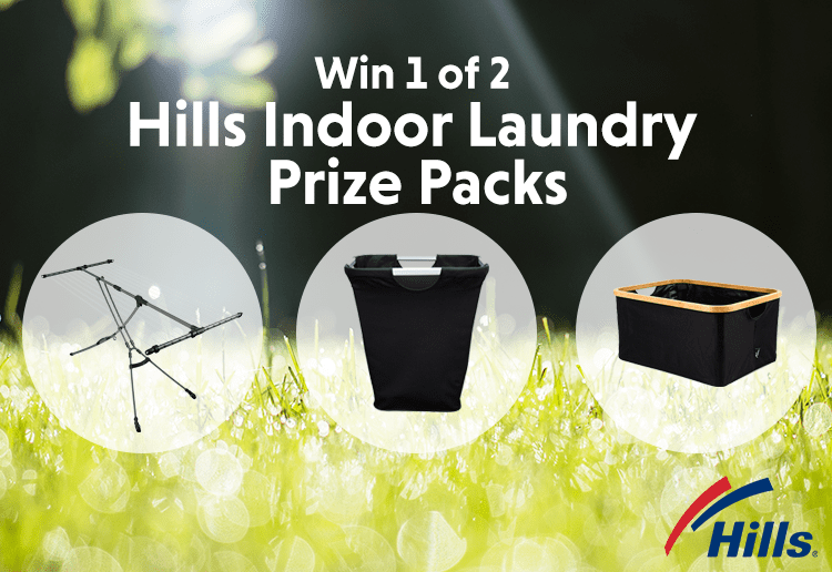 Win 1 of 2 Hills Indoor Laundry prize packs valued at $264.95 each!