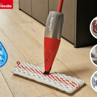 product image of the Vileda ProMist Max Flip Spray Mop Review_Image of ProMist Max Flip function and packaging for the Vileda ProMist Max Flip Spray Mop Review
