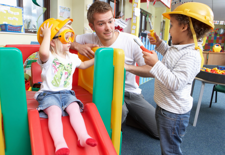 kids playing at child care. starting blocks sponsored post find child care near me.