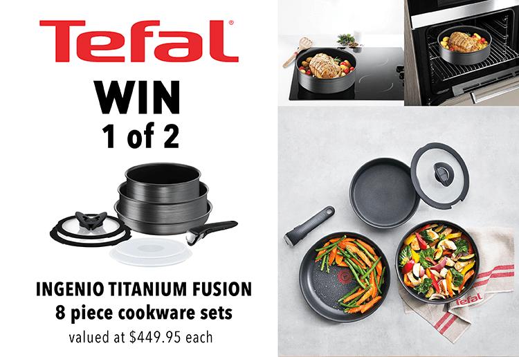 WIN 1 Of 2 Tefal Ingenio Titanium Fusion 8 Piece Cookware Sets