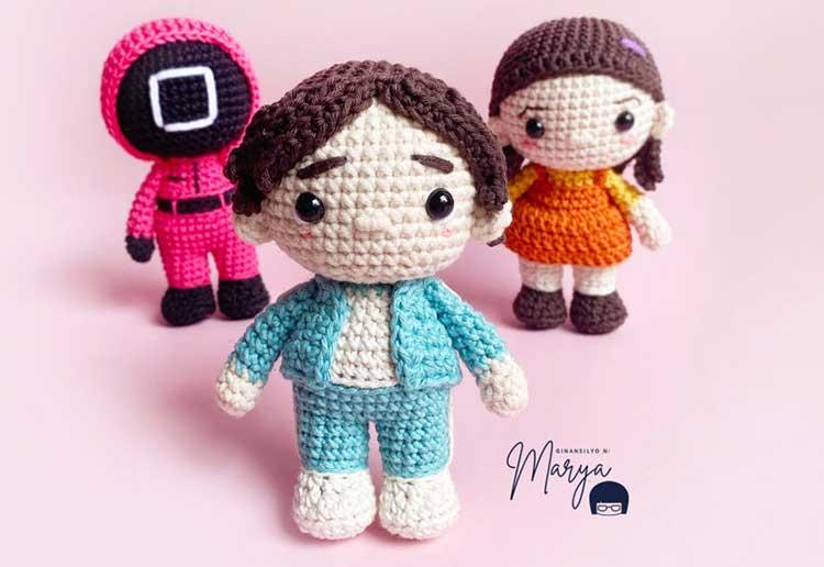 Squid game doll crochet pattern