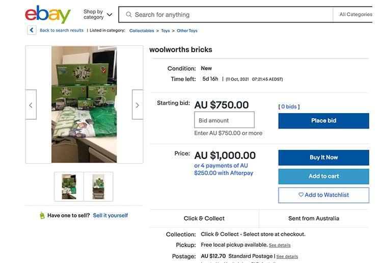 Woolworths Bricks Truck resale