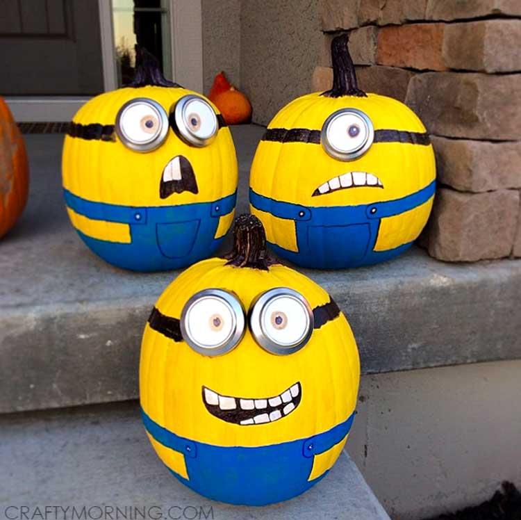 Minions Painted Pumpkins