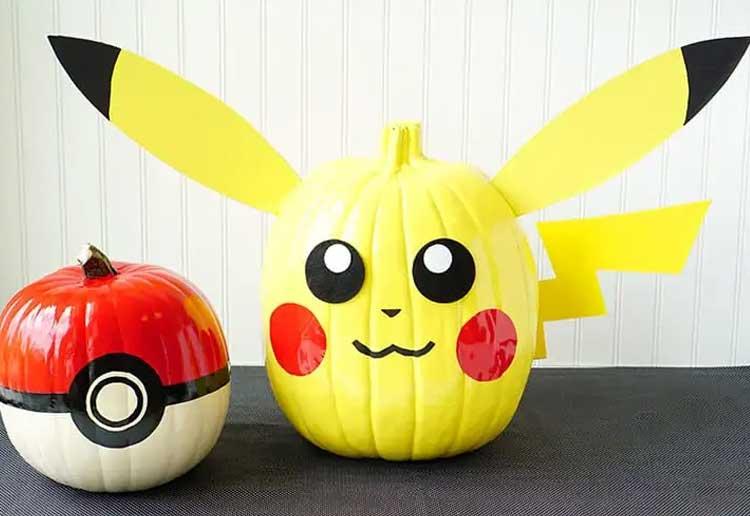 Pokemon Painted Pumpkins