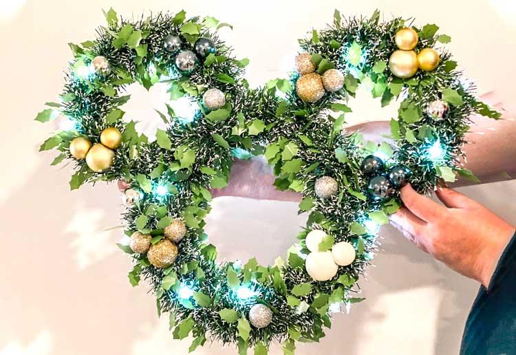DIY Disney-Inspired Christmas Wreath